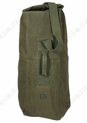 US Army Soldiers DUFFEL BAG - Military Holdall Shoulder Satchel Canvas WW2 Repro