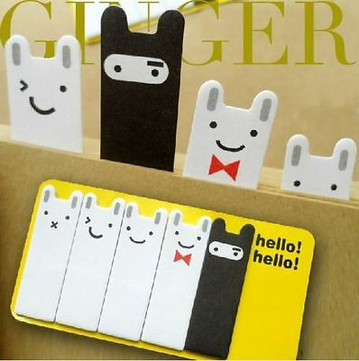 Cute Rabbit Post It Bookmark Pads Flag Sticker Point Marker Memo Sticky Notes