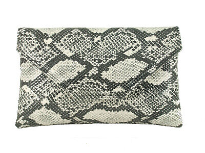 Stylish Large Envelope Faux Snakeskin Clutch Bag/Shoulder Bag Wedding Party Prom