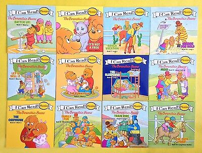 Berenstain Bears Phonics Fun Kids I Can Learn Learning to Read Books Set Lot NEW