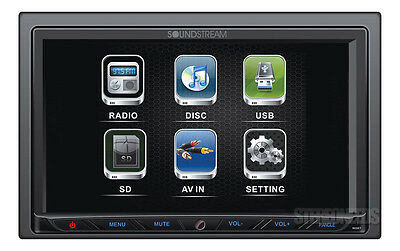 "SOUNDSTREAM VR-764 2 DIN CAR DVD/CD RECEIVER PLAYER 7"" LCD TOUCH SCREEN MONITOR"