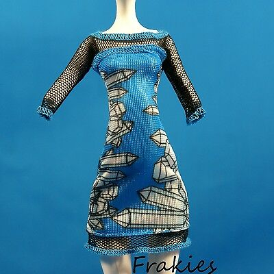 Monster High ABBEY BOMINABLE New FASHIONS Blue DRESS Doll Accessory 1/6
