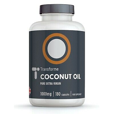 CERTIFIED ORGANIC COCONUT OIL COLD PRESSED EXTRA VIRGIN 180 Capsules Transforme