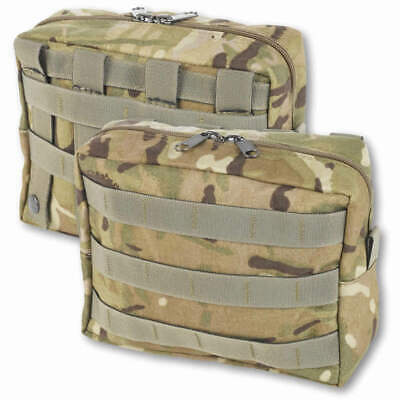 British Army MTP Large Zipped Molle Utility Pouch Horizontal - British Made