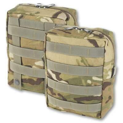 British Army MTP Large Zipped Molle Utility Pouch Vertical - British Made