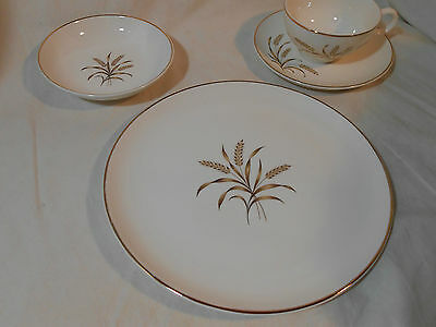 Vintage Ballerina Wheat China Setting for 4 Universal Potteries Original Box 16