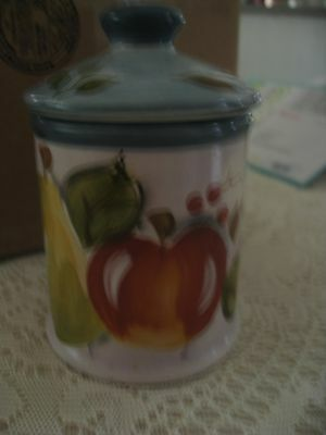 "Black Forest Fruits Dinnerware 6-1/2"" Canister Suction Top By Heritage Mint, Ltd"