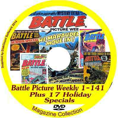 Battle Picture Weekly 1-141  on DVD   plus 17 various Summer specials