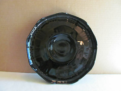 BLACK AMETHYST Footed Serving Dish 9""