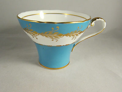 Vintage AYNSLEY  Blue & Gold Trims  TEA CUP ** ONLY  **
