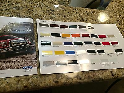 2015 Ford Truck/CUV/SUV Exterior Colors 6-page Original Sales Brochure