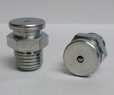 1/4-18 NPT Button Head Straight Grease Zerk Fitting Nipple  2 Pcs