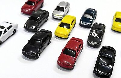 10 x  Model Cars 1:100 HO TT Scale Railway Layout Architecture Train NEW