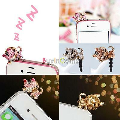 Fashion Clever Diamond Cat Pattern Beauty Anti Dust Plug For Phone Cell Phone