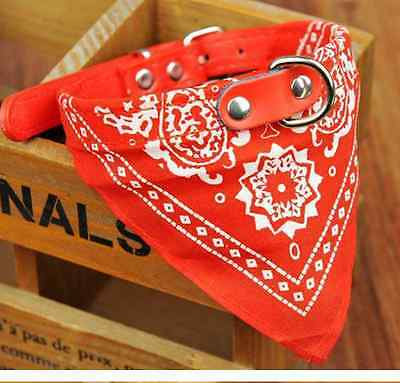 1.5cm Red Pet Dog Bow Tie Collars Dog/Cat Necklace Scarf Cute Printing Collar