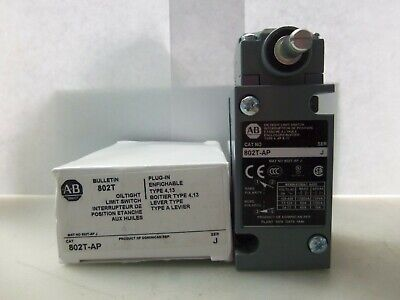 New Allen Bradley 802T-AP Plug-in Oiltight Side Rotary Limit Switch Series J NIB