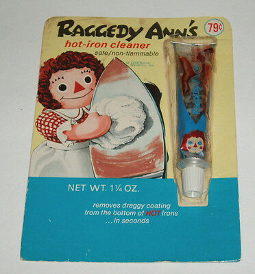 1968 Raggedy Ann Hot Iron Cleaner on Card product
