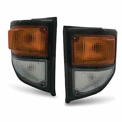 Corner Indicator PAIR Black Fits Toyota Landcruiser 70 78 79 series 99-07