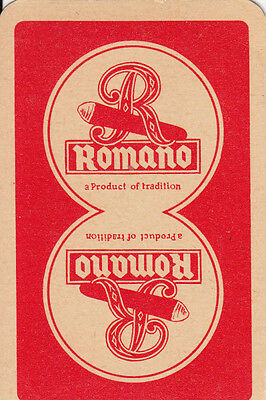 1 SINGLE VINTAGE SWAP / PLAYING CARD - ADVERTISING TOBACCO - ROMANO CIGARS B