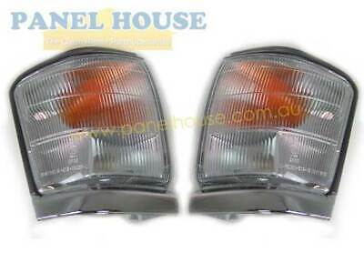Indicator Light PAIR Front Cnr Park Chrome Trim Fits Toyota Hilux 4WD 97-01