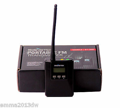 0.2W Stereo FM Transmitter Power Long Broadcast Range Adjustable Frequency