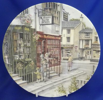 Royal Doulton Window Shopping Collector Plate By Colin Warden - Book Shop