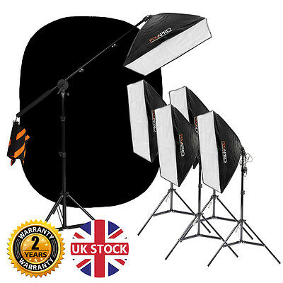 2100w Continuous Lighting Kit Nude Photo Interview Video Lights 5500K CRI>95 UK
