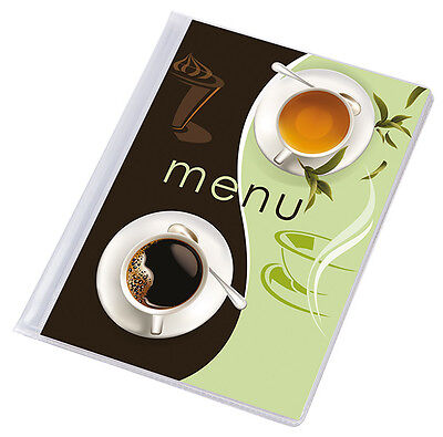 10 X MENU COVER A5 up to 12 pages RESTAURANT menu folder couverture holder CAFE