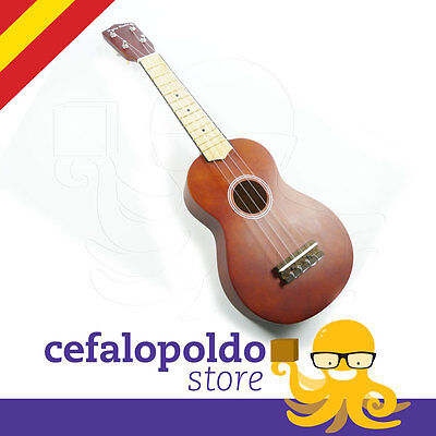 Ukelele Soprano Color Marron Con Funda Incluida Ukulele