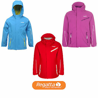 Regatta Skyjack Waterproof Hooded Kids Jacket (RKW123) RRP £55.00 (3 Colours)