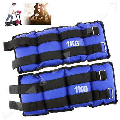 2x 1KG Wrist Ankle Weights Leg Exercise Gym Training Straps