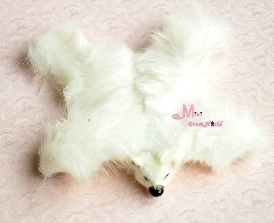 Soft White bear Carpet Rug Dollhouse Miniature Lovely