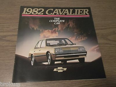 """Mint 1982 Chevrolet Cavalier Chevy Brochure 10"""" X 10""""  23 Pages (Box 261)"""
