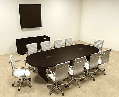 MODERN RACETRACK Feet Conference Table OFCONC - 10 foot conference table
