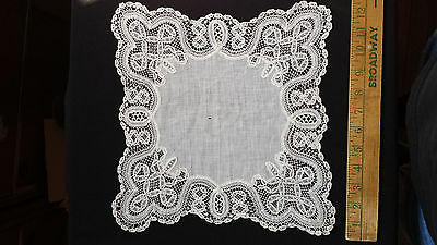 Antique Handmade Vintage Wedding Bridal Lace Hankie