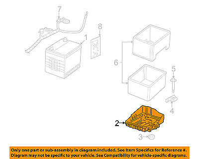 Jeep CHRYSLER OEM 2014 Compass 2.4L-L4 Battery-Battery Tray 5115730AH
