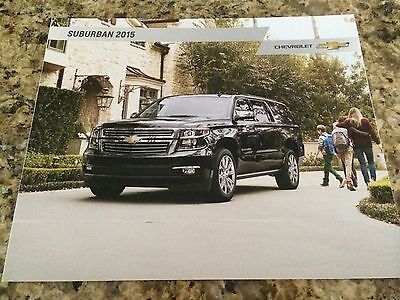 2015 Chevy Suburban 32-page Original Sales Brochure
