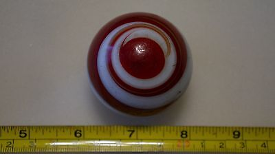 Antique agate marble shift knob red/white