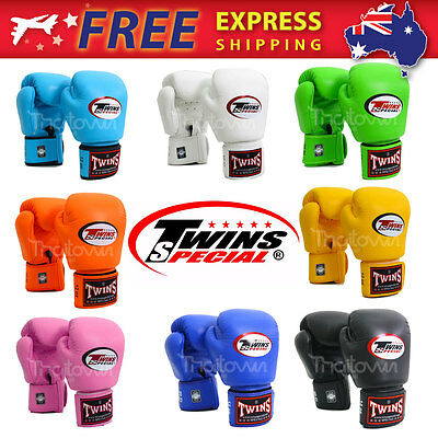 New 9 Color Twins Special Muay Thai Boxing Gloves BGVL-3 MMA 8 10 12 14 16 oz.