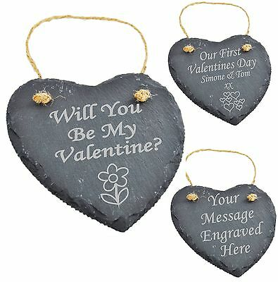 Personalised Engraved Slate Valentines Gifts