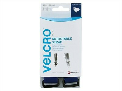 VELCRO® Brand Heavy Duty Adjustable Reusable Waterproof Straps - Blue Two Piece