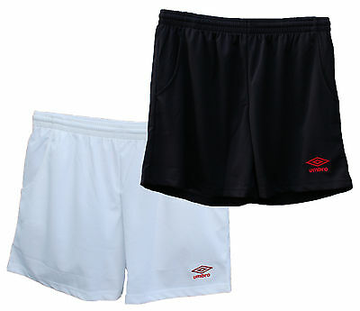 Umbro Mens Shorts Football Training Running Gym Sports Black White New &  Sealed