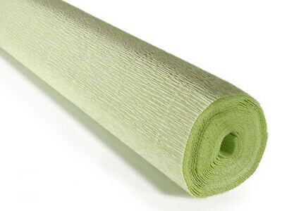 Pale Green Crepe paper roll 50cm x 2.5m Top quality Italian paper craft
