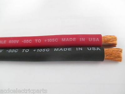 20' 2/0 EXCELENE WELDING CABLE 10 FEET RED AND 10 FEET BLACK USA NEW BATTERY