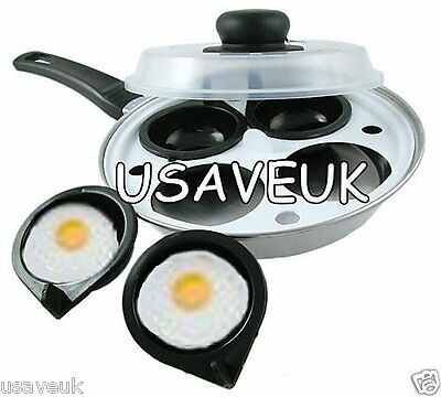 4 Hole Egg Poacher With Clear Lid