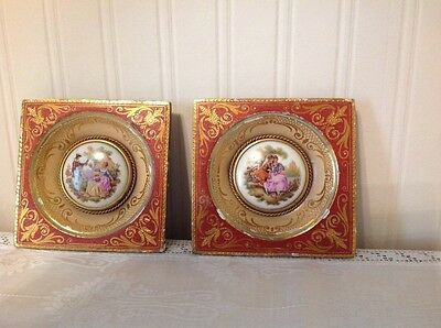 Pair of Limoges wall plaques.....