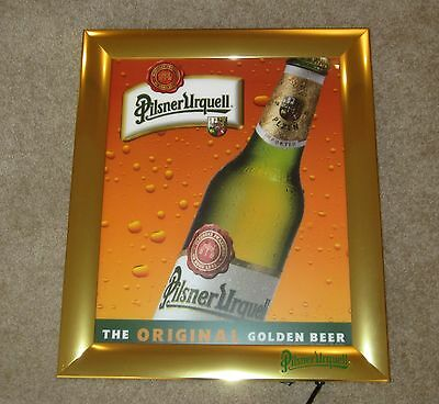 Pilsner Urquell The Original Golden Beer Sign Mirror Lighted Light Up Bar Pub
