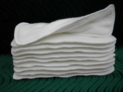 Super Soakers Cloth Diaper Insert Doubler 13x5 Bamboo Cotton Fleece Six Layer