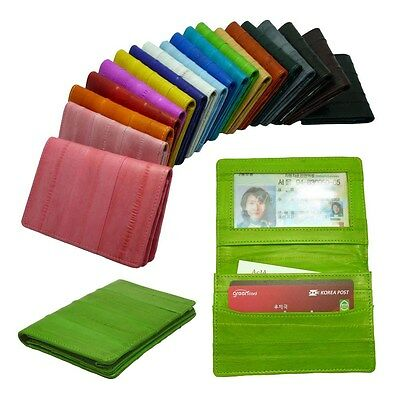 Genuine Eel skin Leather Business card case & Credit card case ID case Wallet 19