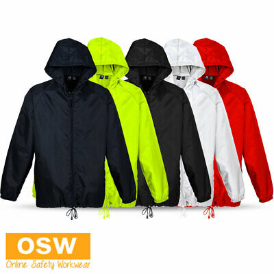 Mens Ladies Kids Light Weight Sport Team Soccer Training Club Rain Spray Jacket